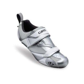 Giro Mele Tri Profi Triathlonradschuh weiss/silber 47