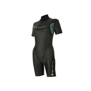 Aqua Sphere Aqua Skin Shorty Damen Top-Kälteschutz Schwimmen Neoprenanzug 1mm