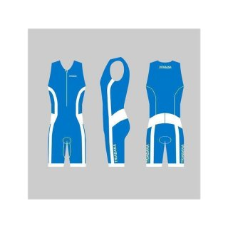 Triabana Tricompress Trisuit  Premium Triathlon Einteiler Holidayblau L