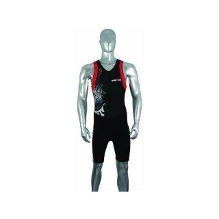 Ironman Triathlon  Einteiler Tattoo  schwarz M